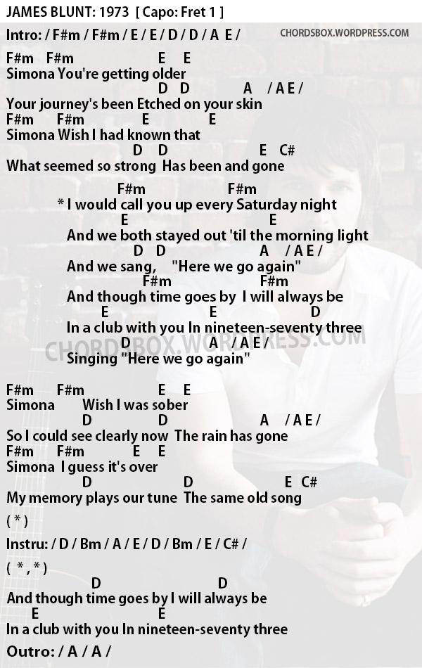 Chord 1973 James Blune Chordsbox