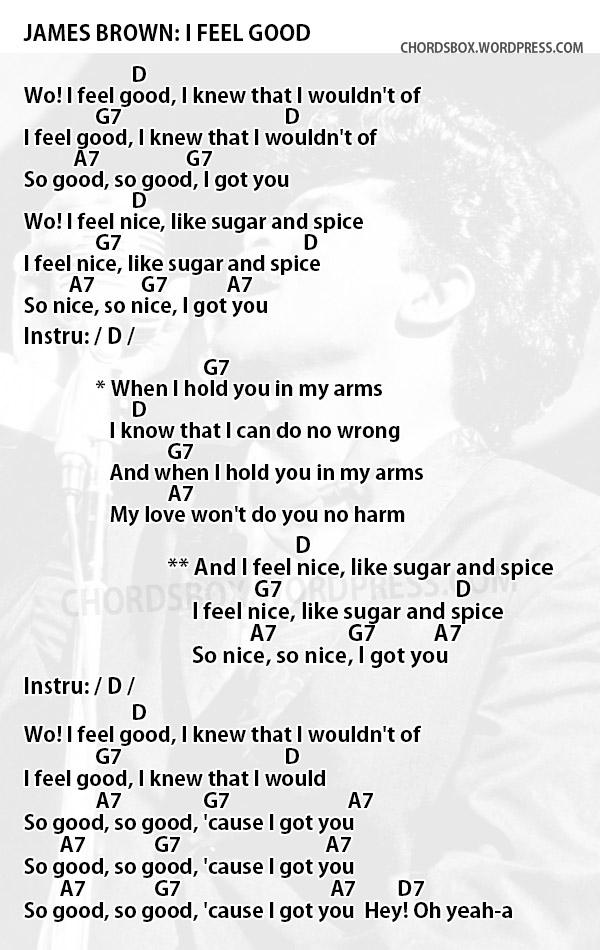 Chord I Feel Good James Brown Chordsbox