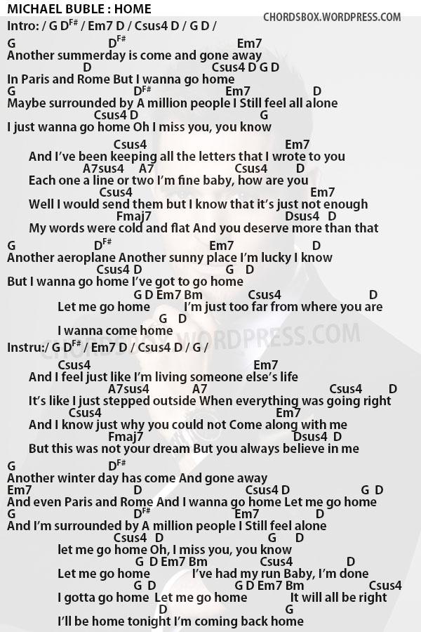 Chord Home Michael Buble Chordsbox