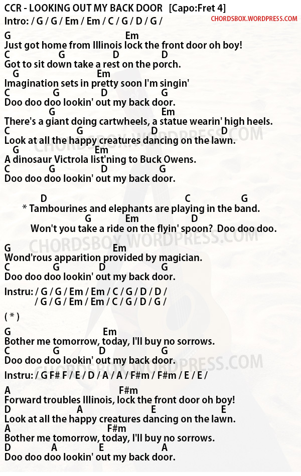 Sophisticated Lock The Front Door Oh Boy Lyrics Images - Plan 3D ...