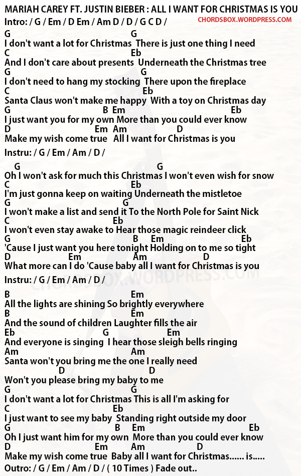 All I Want For Christmas Chords Thecannonball